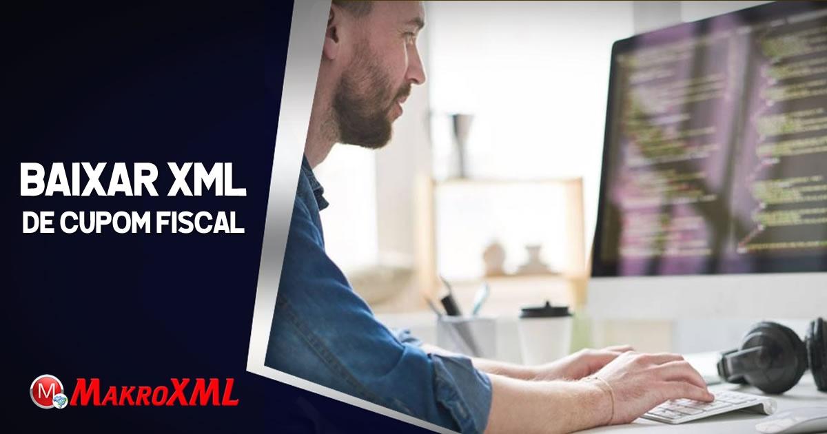 Baixar XML de Cupom Fiscal